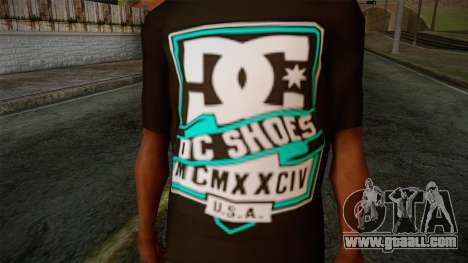 DC Shoes USA T-Shirt for GTA San Andreas third screenshot