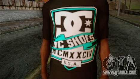DC Shoes USA T-Shirt for GTA San Andreas third screenshot