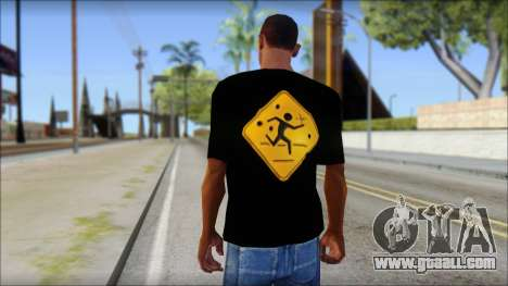 Running With Scissors T-Shirt for GTA San Andreas second screenshot