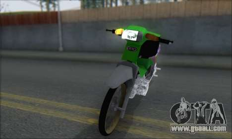 Kawasaki Kaze R for GTA San Andreas back left view
