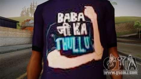 Babaji ka thullu T-Shirt for GTA San Andreas third screenshot