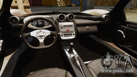 Pagani Zonda C12S Roadster 2001 v1.1 PJ1 for GTA 4 inner view