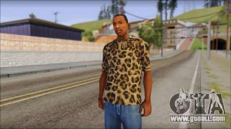 Tiger Skin T-Shirt Mod for GTA San Andreas