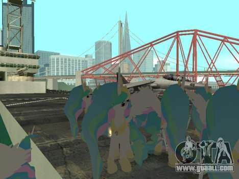 Princess Celestia for GTA San Andreas third screenshot