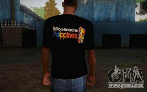 Its More Fun In Philippine T-Shirt for GTA San Andreas second screenshot