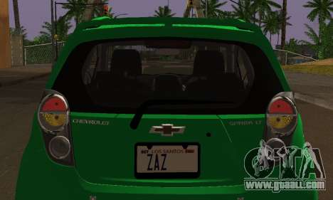 Chevrolet Spark 2011 for GTA San Andreas upper view