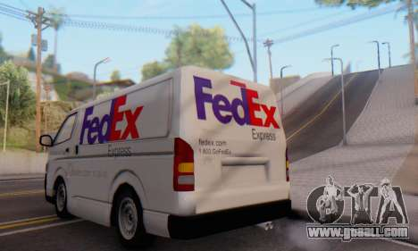 Toyota Hiace FedEx Cargo Van 2006 for GTA San Andreas right view