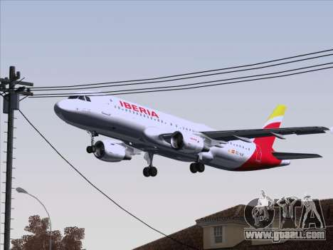 Airbus A320-214 Iberia for GTA San Andreas upper view