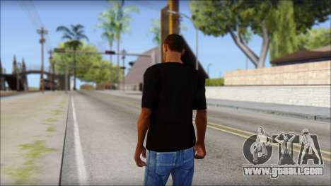 Chicago Bulls Black T-Shirt for GTA San Andreas second screenshot