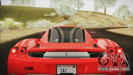 Ferrari Enzo 2002 for GTA San Andreas bottom view