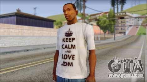 JDM Keep Calm T-Shirt for GTA San Andreas