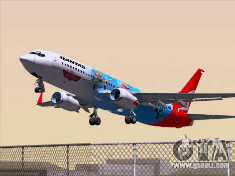 Boeing 737-800 Qantas for GTA San Andreas side view