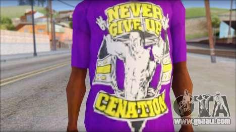John Cena Purple T-Shirt for GTA San Andreas third screenshot