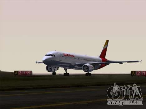 Airbus A320-214 Iberia for GTA San Andreas engine