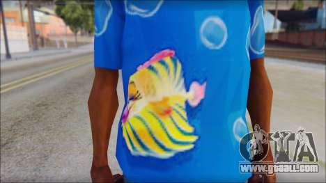 Fish T-Shirt for GTA San Andreas third screenshot