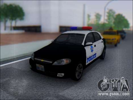 Chevrolet Lacetti Police for GTA San Andreas left view