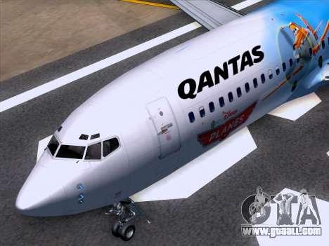 Boeing 737-800 Qantas for GTA San Andreas bottom view