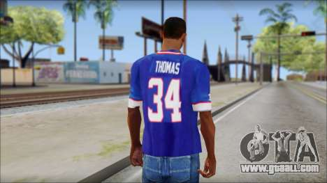 NY Buffalo Bills Blue for GTA San Andreas second screenshot