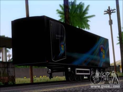 Прицеп Windows Vista Ultimate for GTA San Andreas left view