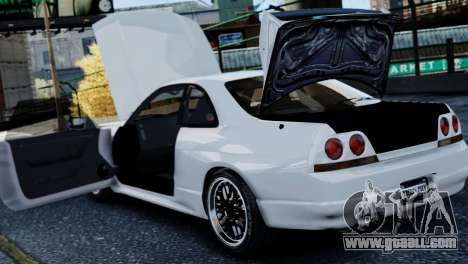 Nissan Skyline R33 1995 for GTA 4 side view