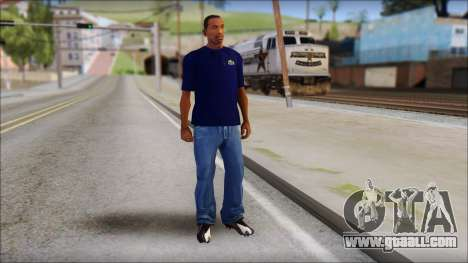 Blue Izod Lacoste Polo Shirt for GTA San Andreas third screenshot