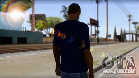 Blue Izod Lacoste Polo Shirt for GTA San Andreas second screenshot