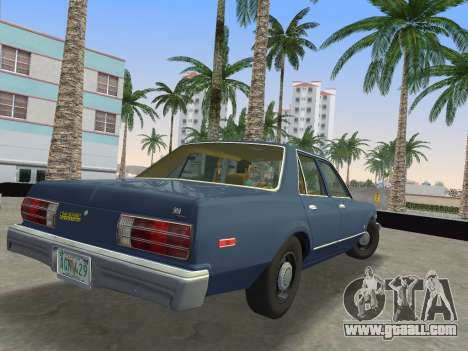 Dodge Aspen 1979 for GTA Vice City back left view
