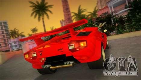 Lamborghini Countach LP5000 QV TT Custom for GTA Vice City left view