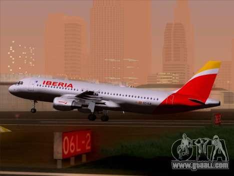 Airbus A320-214 Iberia for GTA San Andreas wheels