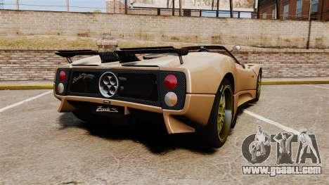 Pagani Zonda C12S Roadster 2001 v1.1 for GTA 4 back left view