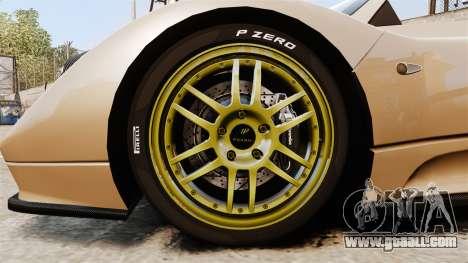 Pagani Zonda C12S Roadster 2001 v1.1 for GTA 4 back view