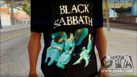 Black Sabbath T-Shirt v1 for GTA San Andreas third screenshot