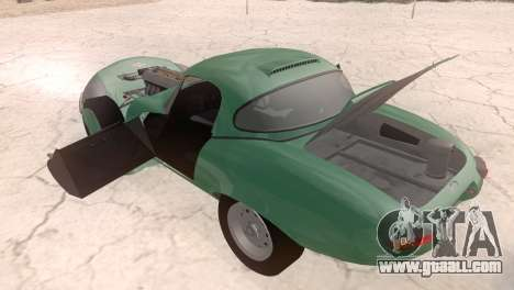 Jaguar E-Type for GTA San Andreas back view