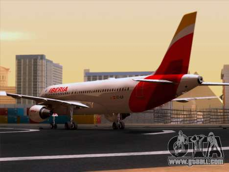 Airbus A320-214 Iberia for GTA San Andreas right view