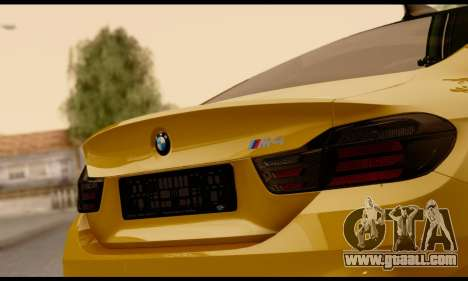 BMW M4 for GTA San Andreas inner view
