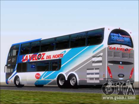 Metalsur Starbus DP 1 6x2 - La Veloz del Norte for GTA San Andreas back left view