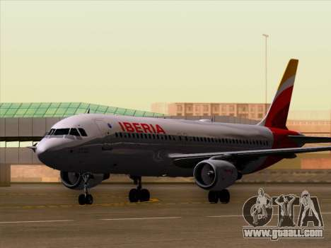 Airbus A320-214 Iberia for GTA San Andreas left view