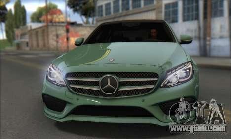 Mercedes-Benz C250 V1.0 2014 for GTA San Andreas back left view