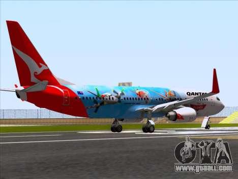 Boeing 737-800 Qantas for GTA San Andreas right view