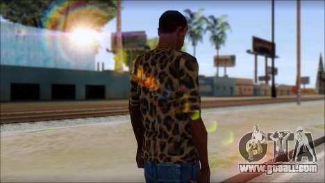 Tiger Skin T-Shirt Mod for GTA San Andreas second screenshot