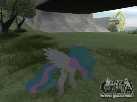 Princess Celestia for GTA San Andreas eighth screenshot