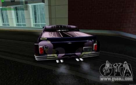 Paint work for Slamvan MLP Fluttershy for GTA San Andreas left view