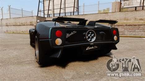 Pagani Zonda C12S Roadster 2001 v1.1 PJ3 for GTA 4 back left view