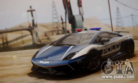 Lamborghini Gallardo LP 570-4 2011 Police v2 for GTA San Andreas left view