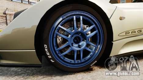 Pagani Zonda C12S Roadster 2001 v1.1 PJ1 for GTA 4 back view