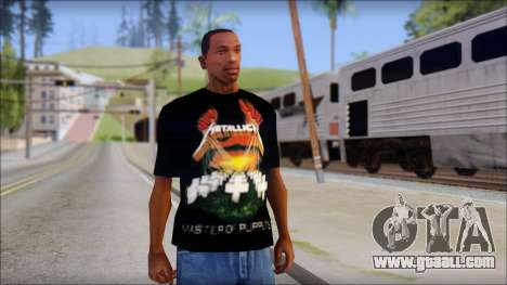 Metallica Master Of Puppets T-Shirt for GTA San Andreas