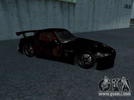 Honda S2000 from Fast & Furious for GTA San Andreas back left view