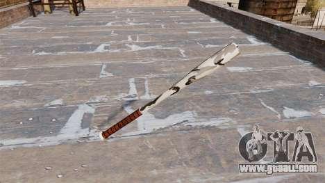Baseball bat Camo A006 for GTA 4 second screenshot