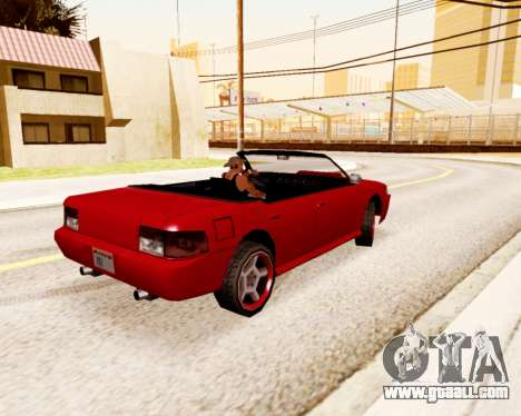 Sultan Convertible for GTA San Andreas back left view