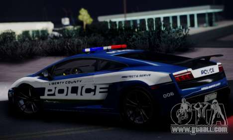 Lamborghini Gallardo LP 570-4 2011 Police v2 for GTA San Andreas back view